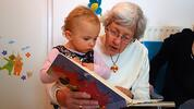 gramma reads to child